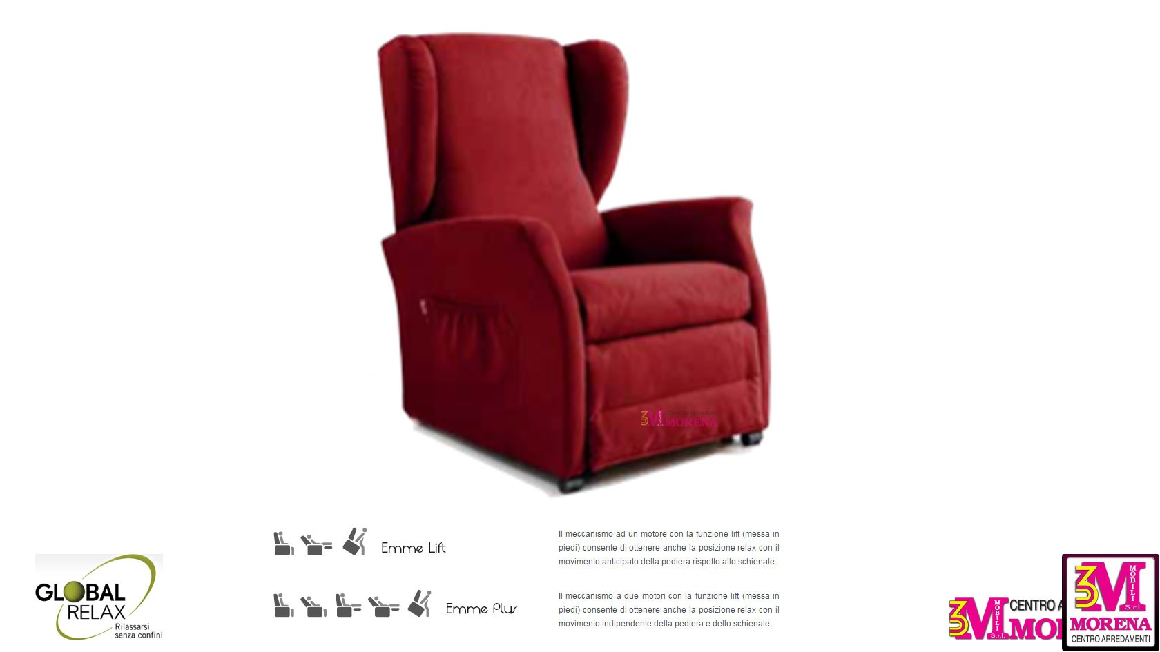 Poltrona relax elettrica 102 for Poltrona global relax